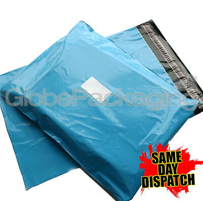 100 x Baby Blue STRONG Postal Mailing Bags - 12 x 16