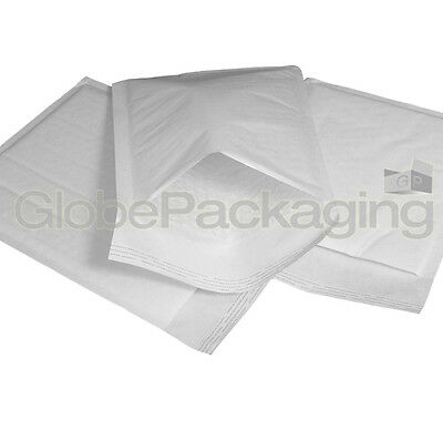 50 x H/5 WHITE PADDED BUBBLE BAGS ENVELOPES 260x345mm (EP8)