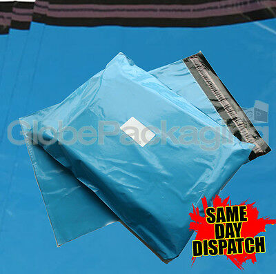 10 x BABY BLUE PLASTIC POSTAGE MAILING BAGS 10