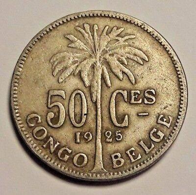 50 Centimes Centiemen  Belgisch CONGO  / Congo Belge 1925 FR