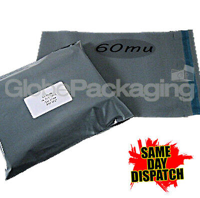 20 x Grey STRONG Postal Postage Mailing Bags 9.5