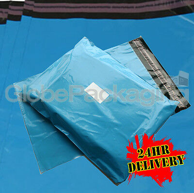 2000 x STRONG BABY BLUE POSTAL MAILING BAGS 10