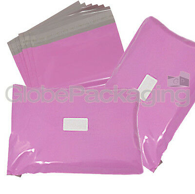 10 x Strong Large PINK Postal Mailing Bags Sacks 12x16