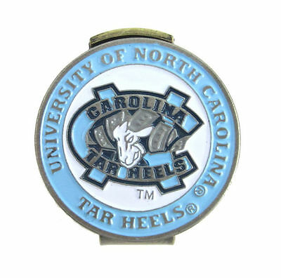 NORTH CAROLINA TAR HEELS Hat / Cap Clip with Double Sided Golf Ball Marker