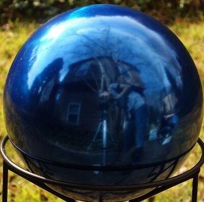New 4-inch Cobalt Blue Stainless Steel Gazing Globe / Mirror Ball
