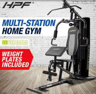 Multi Home Gym Station Bench Press Preacher Cable Machine Back