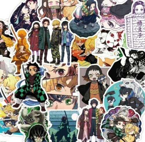 10pcs Demon Slayer : Kimetsu No Yaiba Stickers Anime Set Sticker Tanjiro Tengen