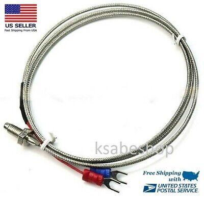 K-type Thermocouple Probe High Temperature Sensor Thermistor Sensor Probe K T 1m