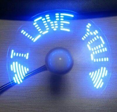 Mini USB Ventilator Lüfter Portable Fan mit LED Licht Mit Wechselnden Anzeigen ()
