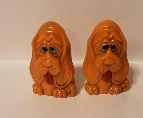 Adorable Vintage Basset Hound Dog Puppy Salt and Pepper Shakers