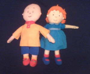 """14"""" CAILLOU 13"""" ROSIE PLUSH DOLLS FROM TREEHOUSE PBS CARTOON TV"""