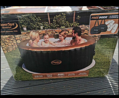Cleverspa Brooklyn Inflatable 4 person hot tub. BNIB Hardly Used