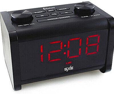 SXE Bluetooth Speaker Extra Loud Alarm Clock Radio Snooze SXE86011