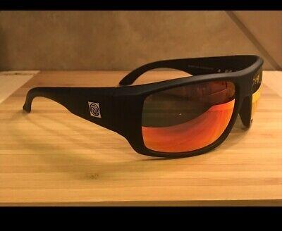 Filtrate Trader One Sunglasses Matte Black Red Mirror Lenses (Filtrate Sunglasses)