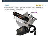 600 watt PRO Grow light kit-600w ballast, HPS pula spectrum, Reflector