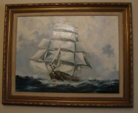 Early Seascape Oil Painting by Michael Matthews (Delivery Available)
