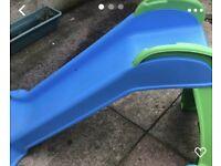 Kids blue slide