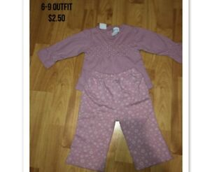 6-9 MONTH GIRL EASTER OUTFIT  2.50