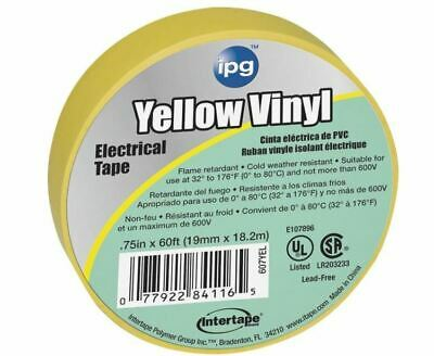 Intertape 85830 Electrical Tape Yellow 34 X 60