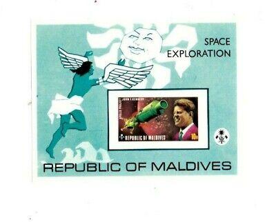 VINTAGE CLASSICS - MALDIVES SC # 479 - US USSR Space Achievement - JFK S/S - MNH