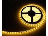 LED LIGHT STRIP YELLOW WATERPROOF DECORATION DIY LIGHTING 5M 300 BULBS FLEXIBLE FOR HOME AND CAR