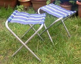 Two foldup camping picnic chairs