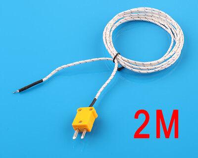 2m K Type Thermocouple Probe Sensor For Digital Thermometer