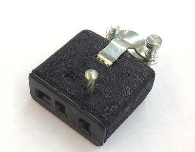 New Cinch Jones S303cct 10 Amp Cable Mounted Female 3 Pin Dc Connector