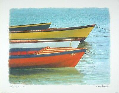 Chauve Auckenthaler Les Barques I Poster Kunstdruck Bild 56x71cm