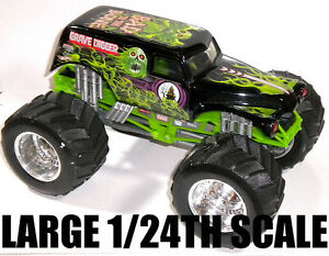 GRAVE DIGGER RARE BAD TO THE BONE 1/24TH SCALE MONSTER JAM ...