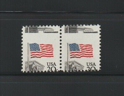 US EFO, ERROR Stamps: #1894 Flag Court. Perf shift pair! MNH