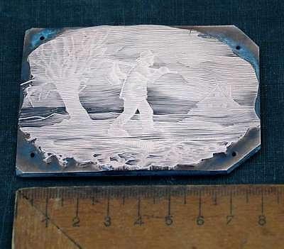 WANDERER Galvano Druckstock Kupferklischee Druckplatte Eichenberg printing plate