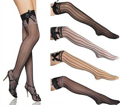 Unique Sexy Bowknot Stay Up Strings Thigh-Highs Tights Stockings Pantyhose-2093](Unique Thigh Highs)