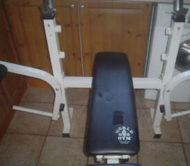 Worlds gym flat-incline bench for sale