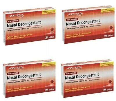 - 4~NASAL DECONGESTANT Non-Drowsy Generic Sudafed Phenyleprphrine 10 mg 24 Tablets