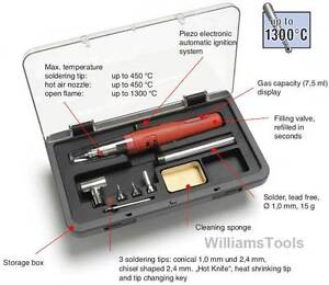 Weller Cordless Gas Soldering Iron Solder Hot Air Kit