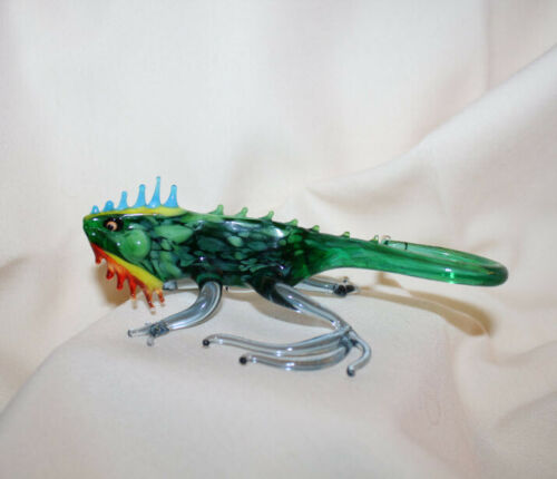 Art Blown Glass Murano Figurine Glass Iguana Figurine #1