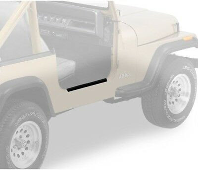 Bestop Door Sill - Bestop HighRock 4x4 Door Sill Entry Guards for Jeep 07-18 Wrangler  #51051-01