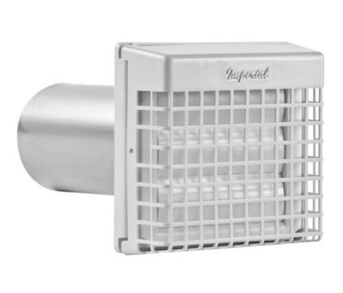 Imperial 4 Inches Dia Plastic Louvered With Guard Dryer Vent