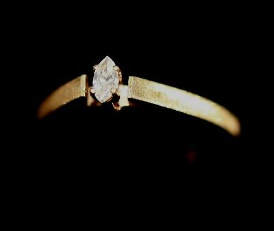 Vintage 10K YELLOW GOLD Solitaire DIAMOND Womens Ring: 1.3 Grams - Size - 10k Gold Solitaire Ring