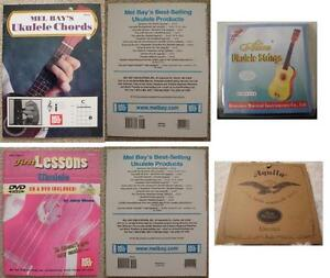 Ukulele Lesson Books, Ukelele Strings, Capo, and Picks (New)