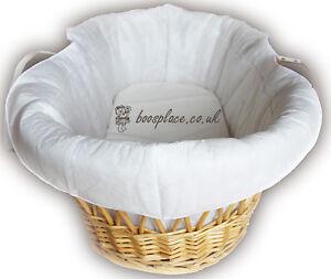 Lollipop Lane Thick Padded Moses Basket Liner, (No Basket)