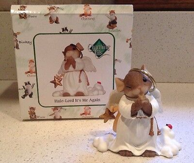 Halo - Lord It's Me Again Charming Tails Figurine NEW Angel Mouse Christmas