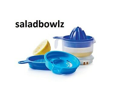 TUPPERWARE New ALL-IN-ONE MATE Zest Juice Separate Blue iNsTOCK fREEsHIP!
