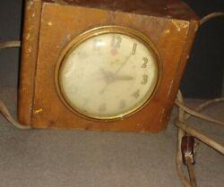 Vintage GENERAL ELECTRIC Alarm Clock WOOD - Not Running -Model 7HA162