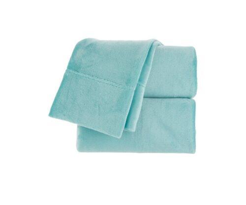 Berkshire Blanket Velvet Soft Cozy Sheet Set-Seaglass-Full-N