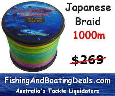 10KG 15KG 24KG 37KG 45KG 60KG 1000M thin Dyneema BRAID Depth finder fishing Line
