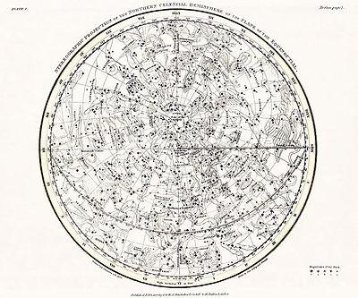Astronomy Celestial Atlas Jamieson 1822 Plate-01 Art Paper or Canvas Print