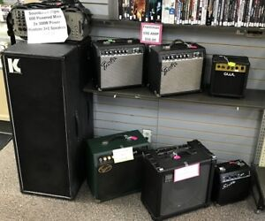 Various Guitar Amps and Pedals