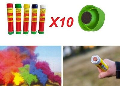 10 Fumogeni XL smoke fumo colorato.Stadio lunga durata,fumogeno fumogena nebbia